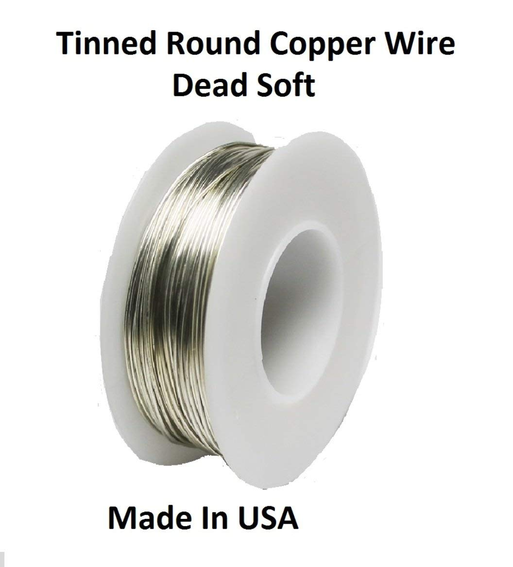 STL Group Inc 14 AWG Bare Tinned Copper Wire Bus Wire 1//2 Lb Spool 40 Ft.