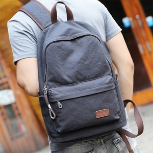 Shenzhen vintage blank plain cotton canvas satchel rucksack backpacks for men