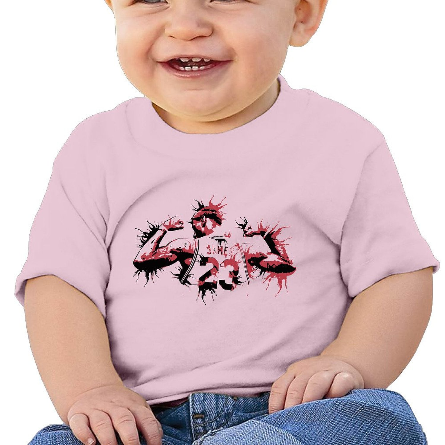 e4323b600570 Get Quotations · MDSHOP Unisex-Baby   Toddler   Infant Cleveland Cavaliers  Basketball Player LeBron Number 23 Cotton