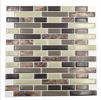 Wootile Morden Vinyl Peel and Stick Backsplash Kitchen Bathroom Wall Tile Sticker
