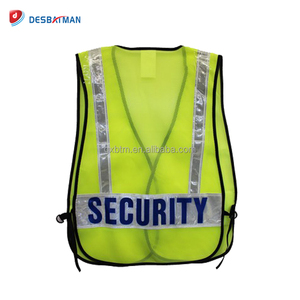 China Gold Supplier 100% Polyester Mesh Economic Safety Vests Security Work Waistcoat With Reflective Strips Yellow