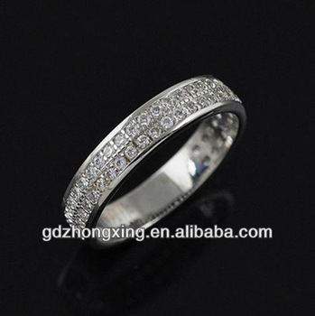 Micro Pave 925 Silver Ring Designs