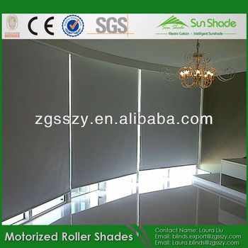 Blind Remote Control Blackout Motorized Roller Shades In