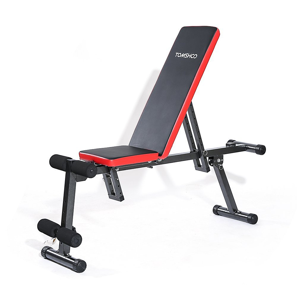Buy Tomshoo Adjustable Folding Ab Bench Flat Incline