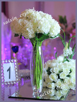 chear artificial flower wedding bouquet with glass vase