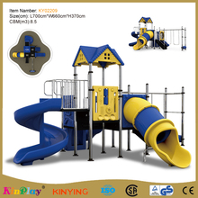 KINPLAY brand children outdoor used commercial playground games equipment sale big slide
