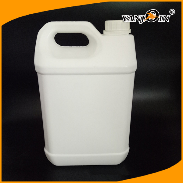 5L Nature White HDPE Lubricant Oil Plastic Bottle with Tamper Evident Cap
