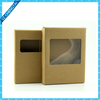 Brown kraft phone case packaging box with PVC window