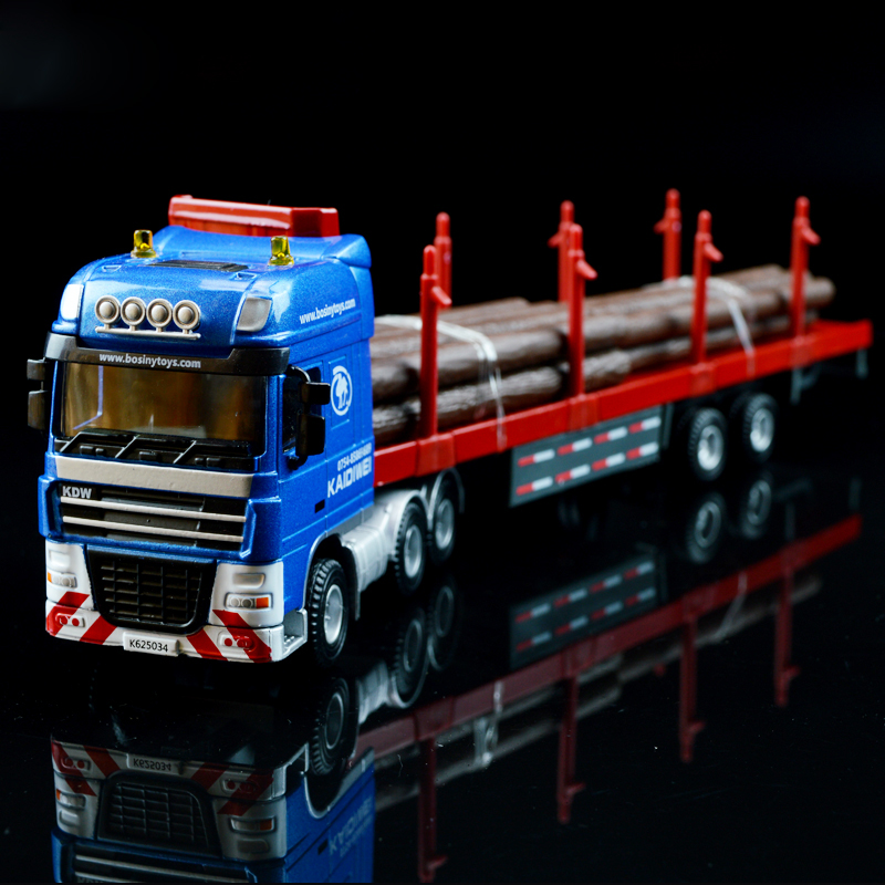 1 65 Alloy Toy Cars Model American Style Transporter Truck: Popular Toy Truck Flatbed Trailer-Buy Cheap Toy Truck