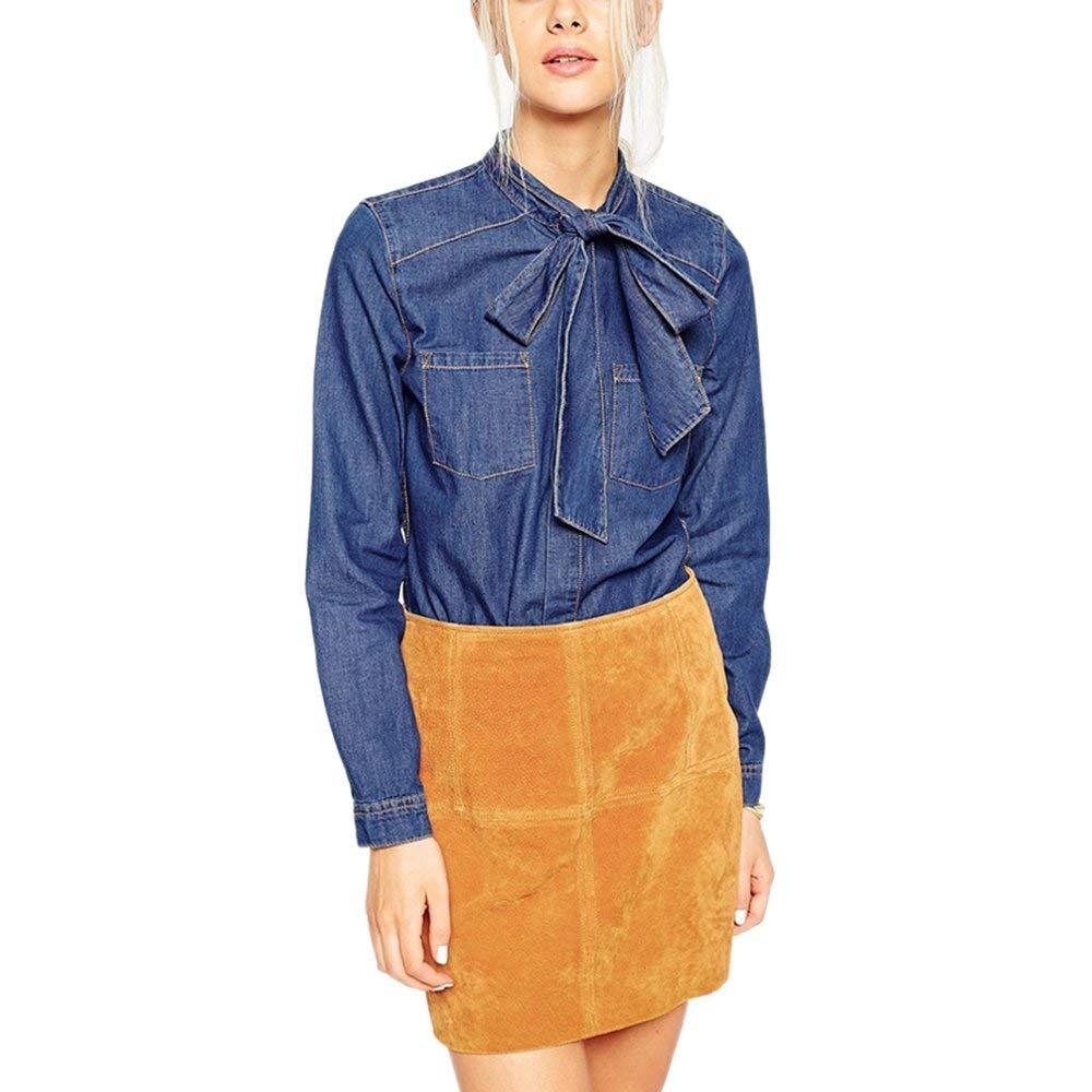 кожаных джинсовая рубашка с бантом фото того, чтобы