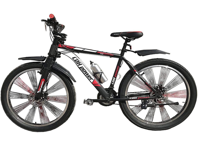 CDHpower 26x3 inch Spoke Wheel Bicycle/spoke wheel bike,Double Shoulder Suspension Fork Mountain Bicycle