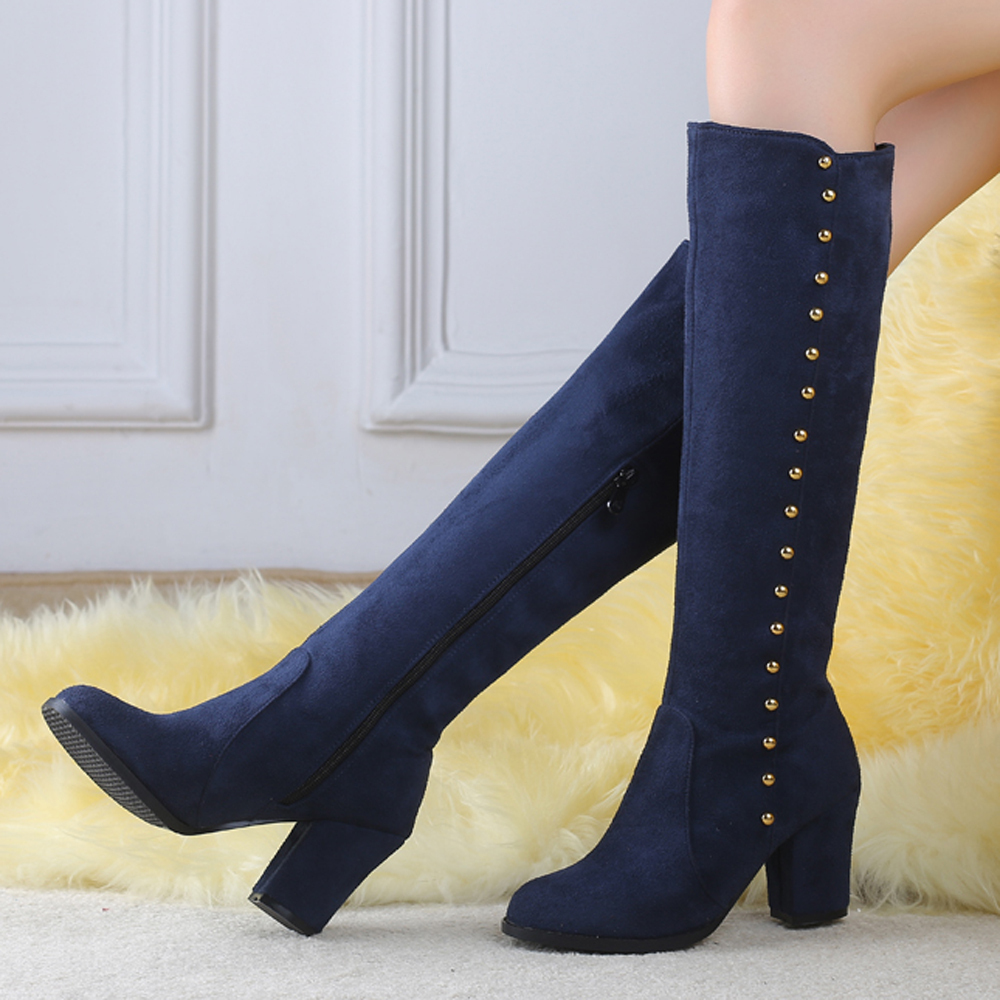 Ladies Navy Lace Up Shoes