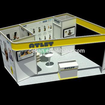 Exhibition Shell Scheme : Aluminum extrusion standard modular shell scheme trade show