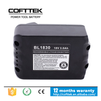 2015 hottest! makita 18 Volt 3 Amp battery makita 18v battery BL1830 for high quality cordless drill power tool