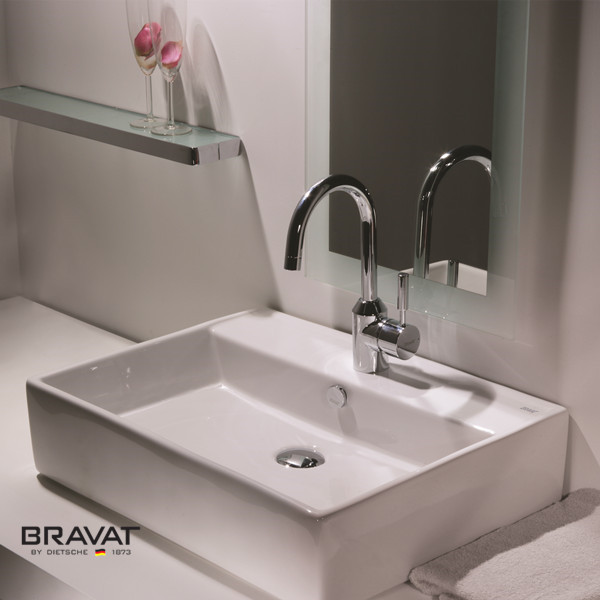 sanitary ware products ceramic top counter basin C22137W-1, View bathroom  basin, Bravat Product Details from Bravat (China) GmbH on Alibaba com