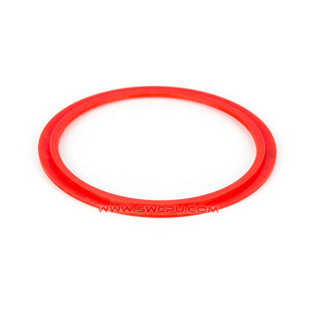 Clear color ribbed soft silicone steam ring for jar