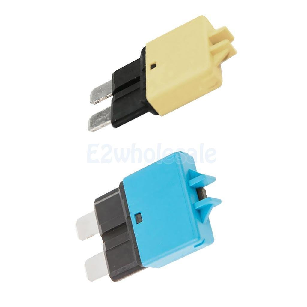 2pcs Automatic Resettable Fuse Auto Marine Circuit Breaker Blade 20A 15A 12V