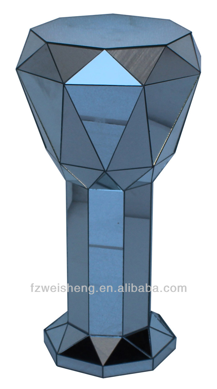 inch full pedestal size raw product display view steel loft hollow detail industrial stands