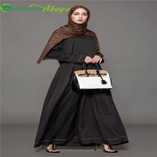 High quality islamic clothing women black fashion urban dubai abaya