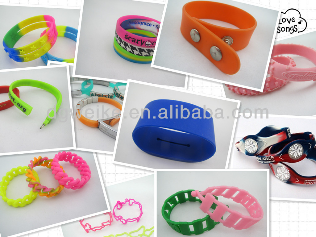 Promotion silicone wristband/bracelet/band celebrate together