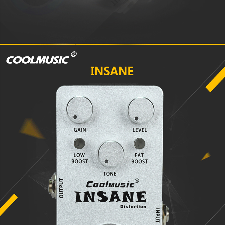 OEM Wholesale Musical Instrument Insane Distortion  Guitar Pedal Effects C-DI01