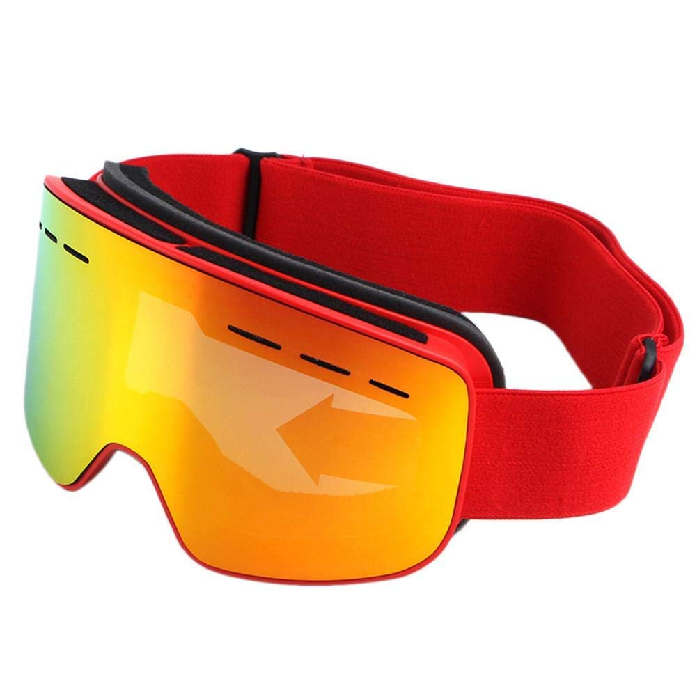 Ambition.h Ski Glasses Spherical Double-Layer Anti-Fog Goggles, Anti-Snow Goggles, Mountaineering Glasses, Hiking Ski Goggles, Can Be Equipped with Myopia Ski Glasses.