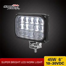 "4x4 off road Light for 4wd mud tyres 4x6"" 45w headlight led motorcycle lamp"