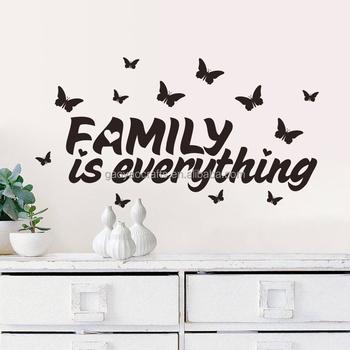 thuis slaapkamer decor diy behang engels citaat familie is alles verwijderbare art woorden muursticker