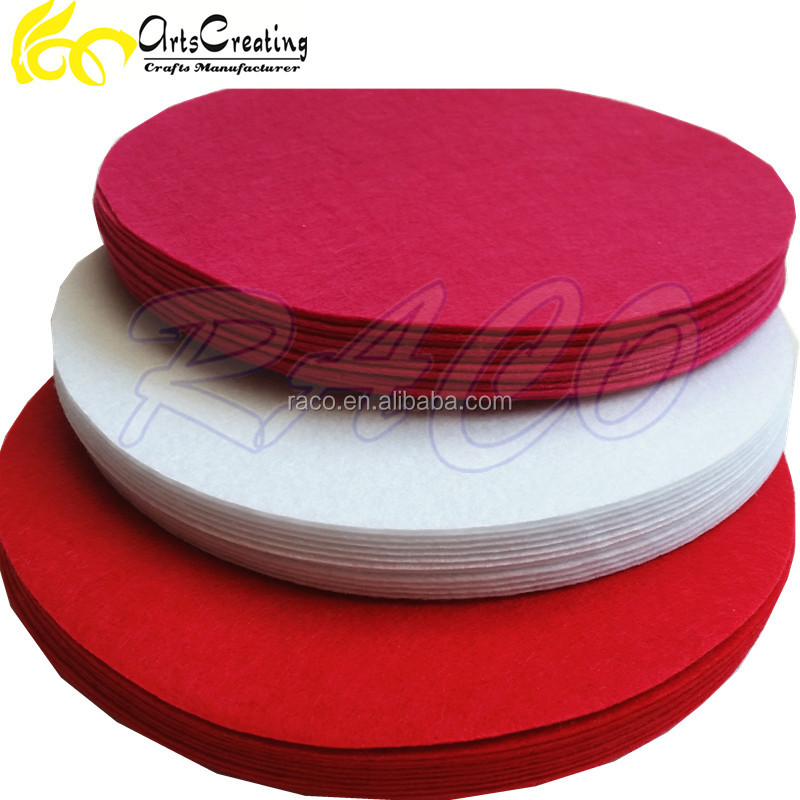 die cut circular round shape felt ideal for children general craft