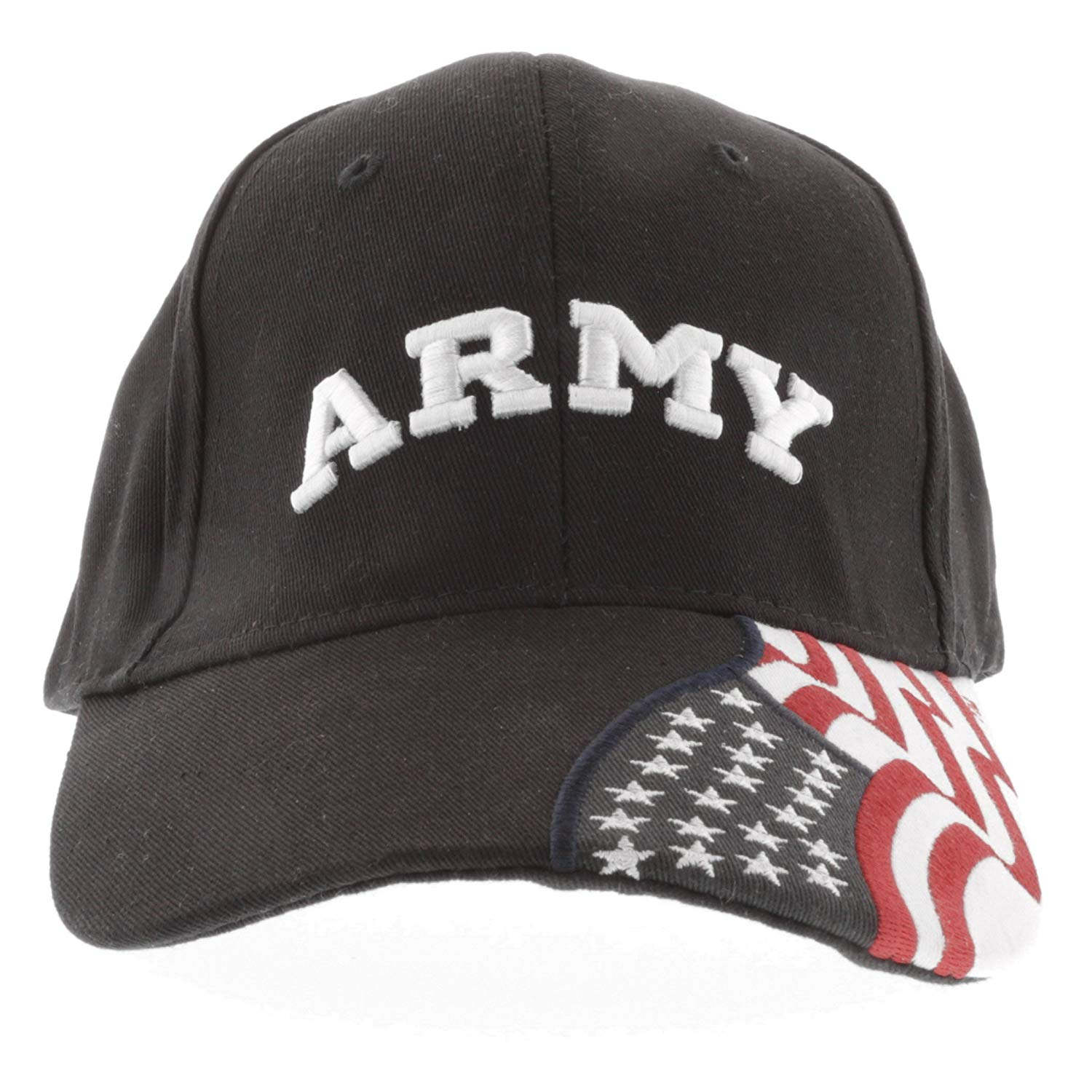 a1725453bdc Get Quotations · ARMY 3D Embroidered Baseball Cap with The American Flag  USA Adjustable Cap 100% Cotton