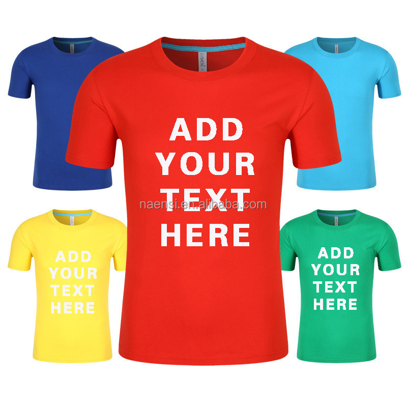 1pcs order accept Wholesale High quality 100% cotton 180g digital printing white colour custom design you own t shirt