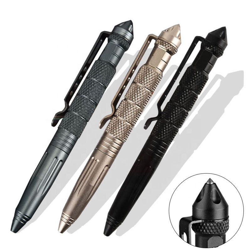 Outdoor aluminum glass crusher survival self-defense tungsten tactical <strong>pen</strong>