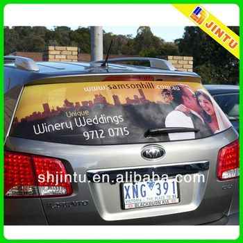 Printing removable car window sticker for advertising