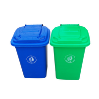 50L and 30L different colour high quality swivel wheeled plastic trash can / waste bin / dustbin