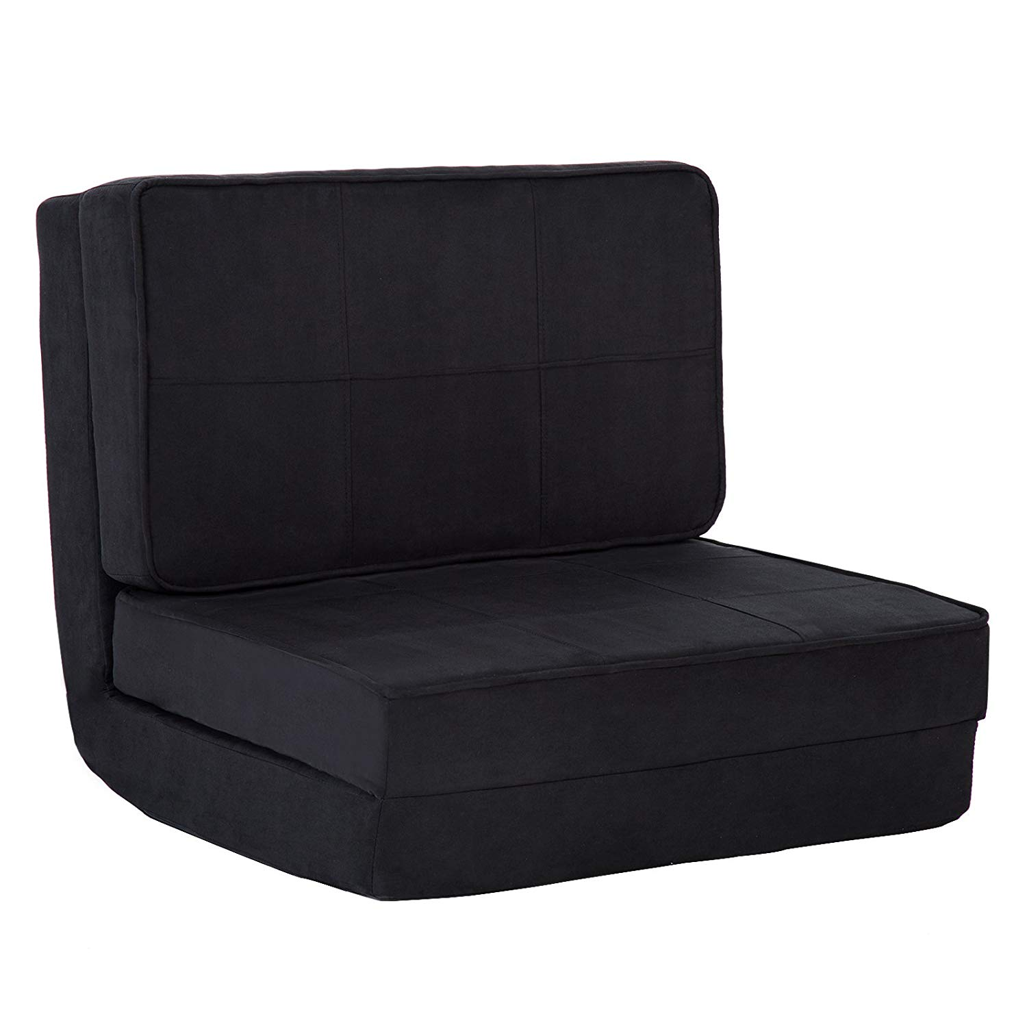 Mecor Sofa Bed Fold Down Chair Flip Out Lounge Convertible Sleeper Bed Black