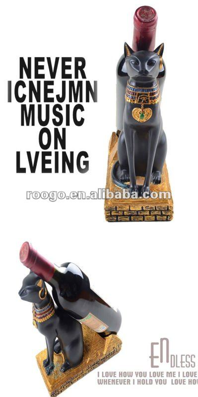 Home polyresin cat wine holder