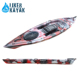 Camouflage Sit On Top Fishing Kayak Single Person Plastic Kayak with Aluminum seat