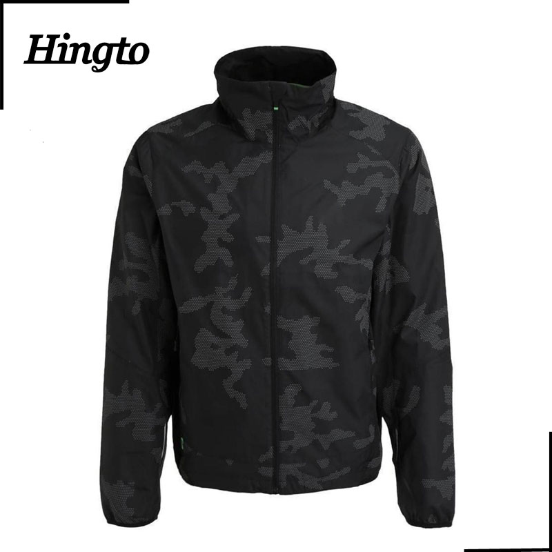 Hingto new design customized sample long sleeve camo sports jacket factory low price