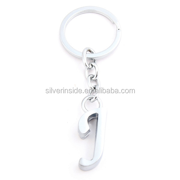 "Best Selling Cute Letter ""J"" Thick Charm Key Ring Keychain"
