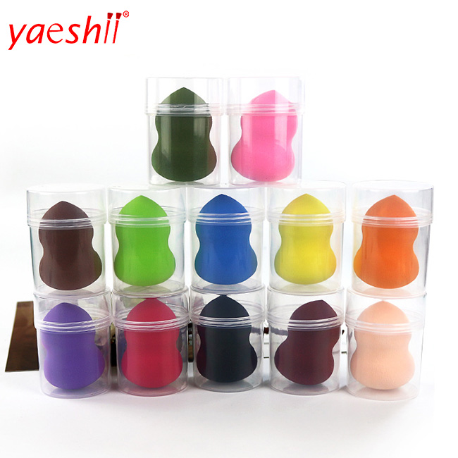 yaeshii teardrop shape Custom logo high quality latex free makeup sponge