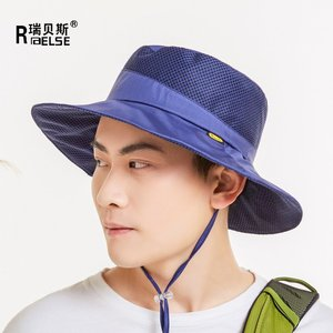 278cd8053bf Men Women Safty Boonie Hat UV50+ Side Mesh Bucket Hat Outdoor Hunting Hat  with Adjustable Chin