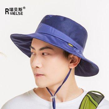 Men Women Safty Boonie Hat UV50+ Side Mesh Bucket Hat Outdoor Hunting Hat  with Adjustable Chin 0048b7ed69