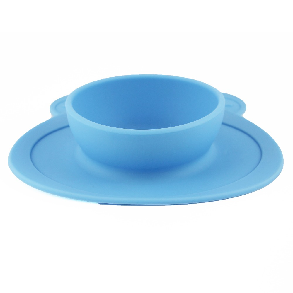 Food grade silicone baby bowl animal shaped bowl, reusable silicone bowl