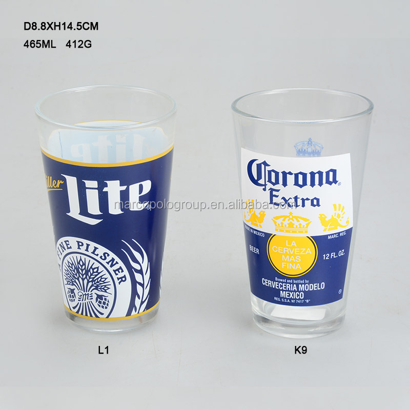 465ml recycled glass cups glass beer boot cups