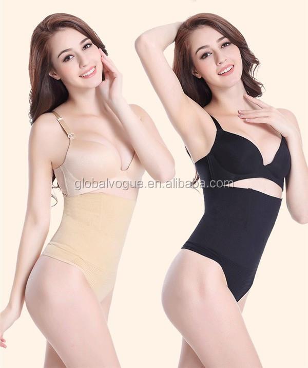 8b21c5c325172 Women High Waist Trainer Tummy Slimming Control Waist Cincher Body Shaper  Thong G-string Butt