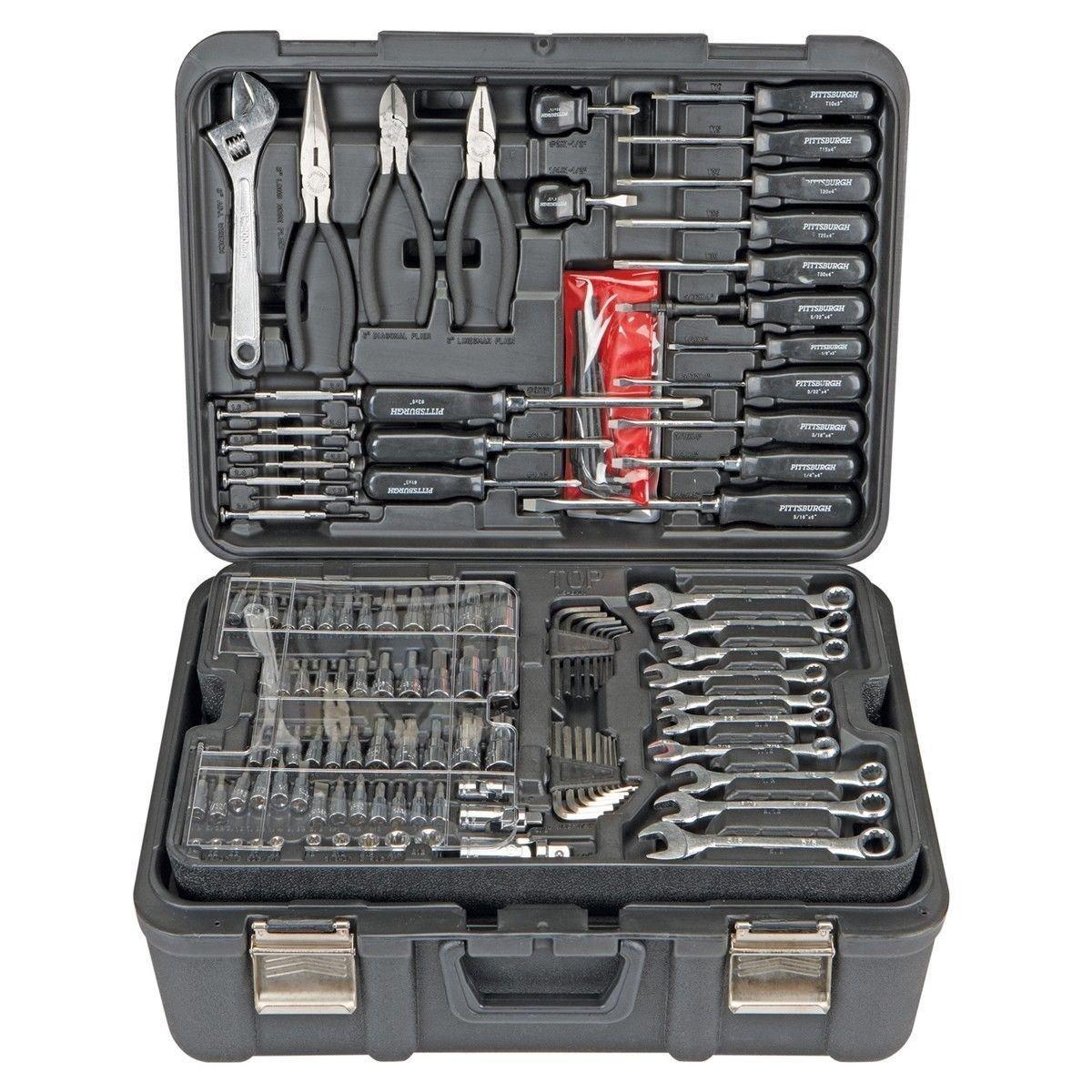 Professional 301 Piece Mechanic's Tool Kit Set - Shop Garage Vehicle Repair
