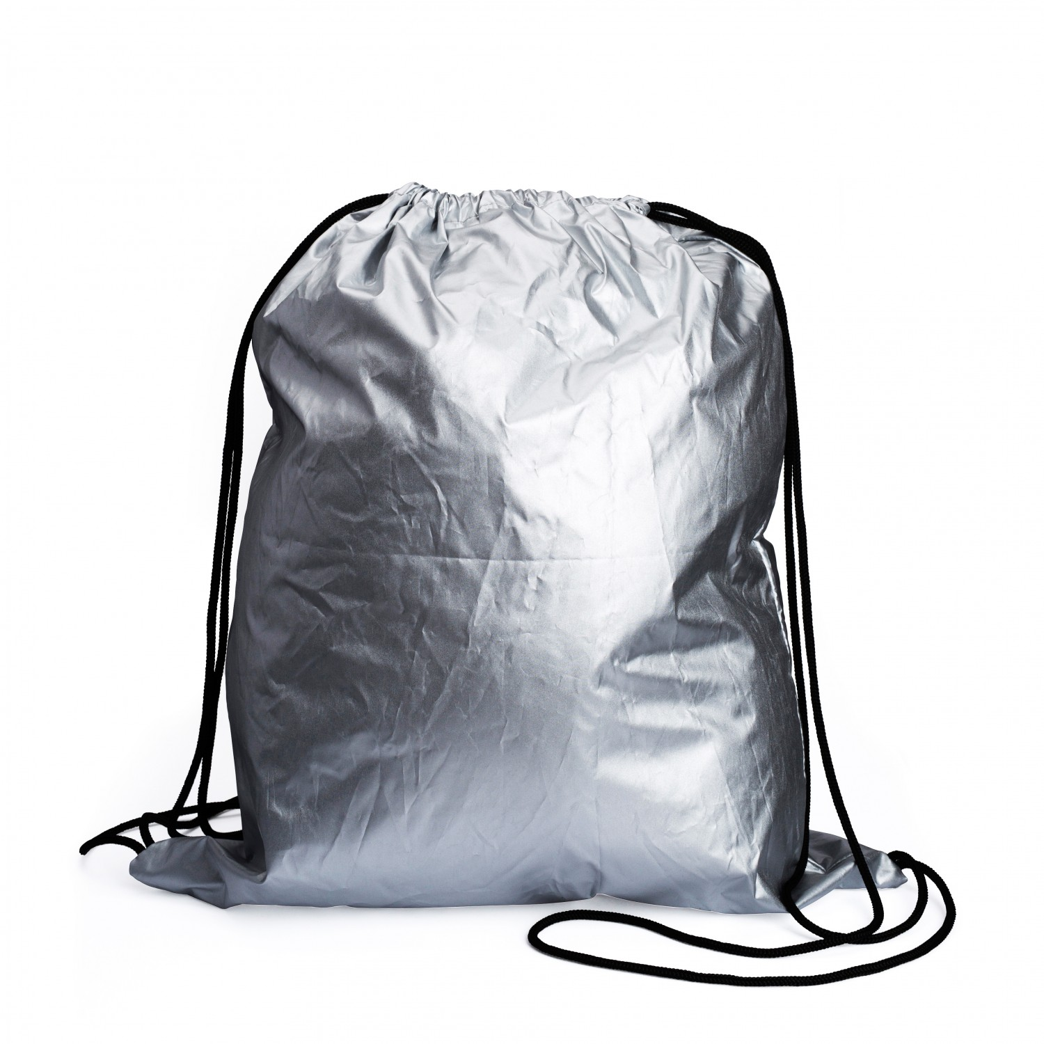 personalized promotional eco friendly  Backpack Customized silver metallic drawstring bags