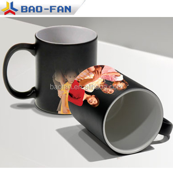 Sublimation Magic Mug 11oz Blank black sublimation color changing matte mug