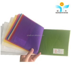 YIHE High Quality Colorful Biodegradable nonwoven cleaning cloth 100% PP polypropylene Spunbonded Nonwoven Fabric TNT Cloth