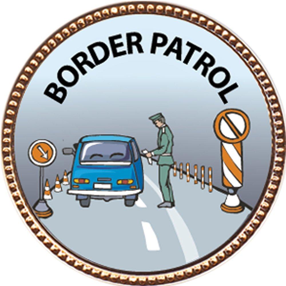 "Border Patrol Award, 1 inch dia Gold Pin ""Our Protectors Collection"" by Keepsake Awards"